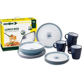 Brunner Lunch Box Zestaw naczyń, niebieski/biały
